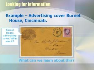 advertising cover from burnet house